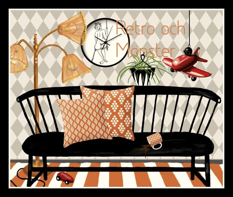 Interiörbild, Retro och mönster