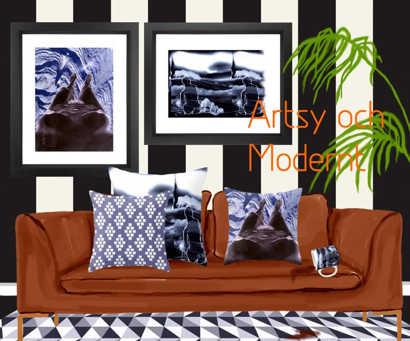Interiörbild, Artsy och modernt