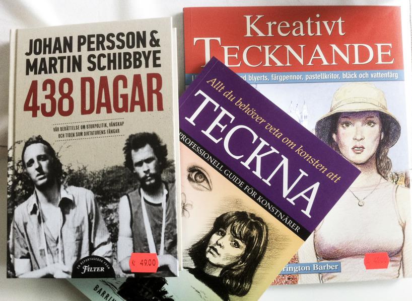 Böcker köpta på bokrean