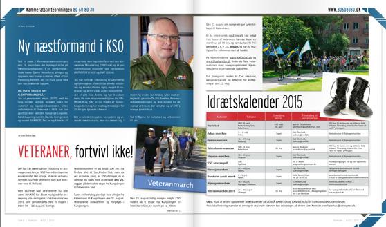 Veteranmarschen syns i veterantidningen Baretten, medlemstidning för De Blå Baretter i Danmark.