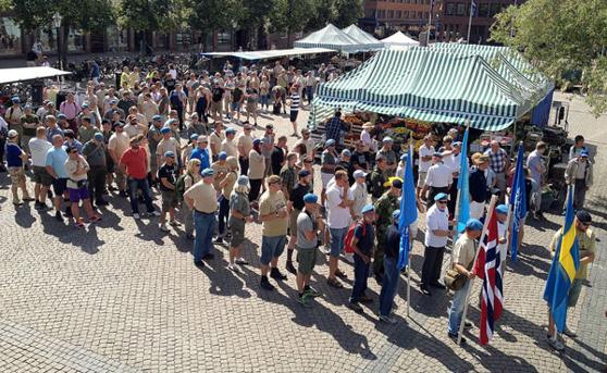 Veteranmarschen på Stora torg i Halmstad 2014 - Foto: Per Lennartsson