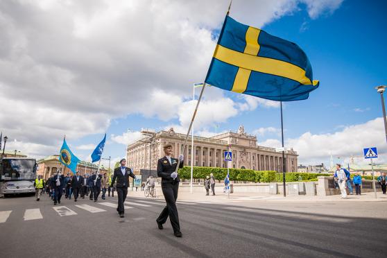 Veteranmarschen genom Stockholm på Veterandagen (29 maj) 2015 - Foto: Kim Svensson
