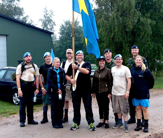 Från vänster: LG, Karin, Fredrik, Micke, Anja, Anders, Per, Daniel och Victoria.