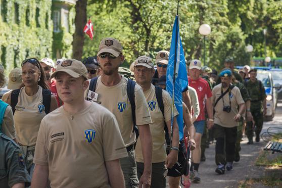 Veteranmarschen  startade i Stockholm 2016