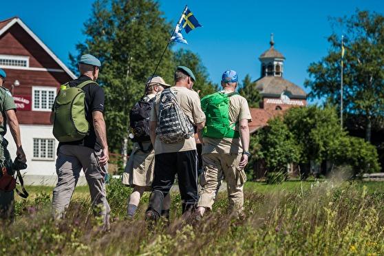 Veteranmarschen har nu kommit till Sundsvall. Foto: Kim Svensson
