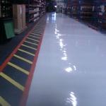 polyuretan+ lijemålning på asfalt Perstorp