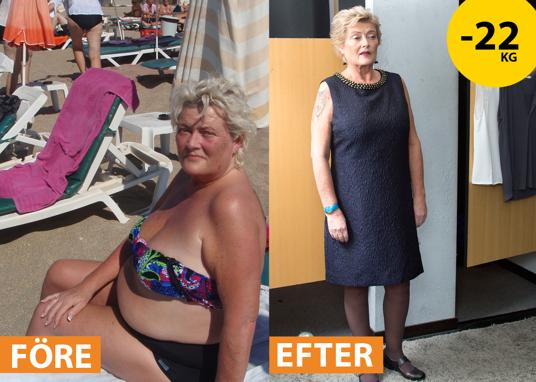 Före - Efter: Ewa -22 kg med Slanka och Hälsobyrån!
