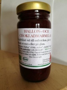Hallon och choklad-marmelad