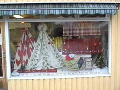 Skyltfönster i butiken