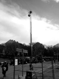 Kamera i mobil teleskopmast