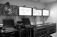 Mobilt datacenter för övervakning och konfigurering.