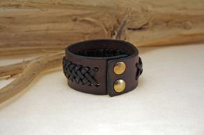 Earth Hiker flätat brett armband - 15 cm
