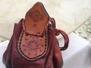 Läderpung/Leather pouch - Läderpung Floral wheel