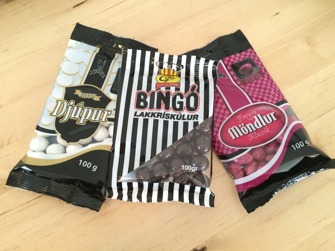 Isländskt godis - Bingokulor lakrits/choklad