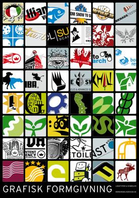 Några av alla de logotyper och symboler vi tagit fram under åren.