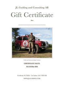 Gift Certificate xxxxx kr SEK