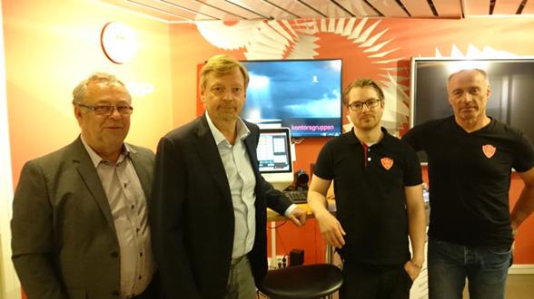Från vänster: Kurt Henriksson, Mats Khan, Robin Dorand och Hasse Ericsson
