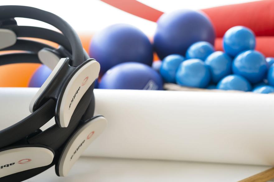 Pilates rulle/boll på Studio Frid