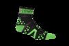 Pro Racing Sock V2 Run High - SVART/GRÖN T5 (strl 46-48)