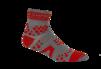 Pro Racing Sock V2 Trail - GRÅ/RÖD T5 (strl 46-48)