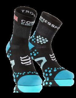 Pro Racing Socks V2.1 - Run High - Svart/Blå T1 (strl 35-38)