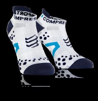 Pro Racing Socks V2.1 - Run Low - Vit/Blå T1 (strl 35-38)