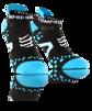 Pro Racing Socks V2.1 - Run Low - Svart/Blå T4 (strl 45-47)