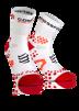 Pro Racing Socks V2.1 - Run High - Vit/Röd (strl 45-47)