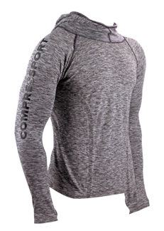 3D THERMO SEAMLESS HOODIE - GREY - S