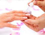 Nagelförlängning med fransk manikyr