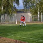 lagkapten meijer gratulerar jocke dahlström till 3-1 målet