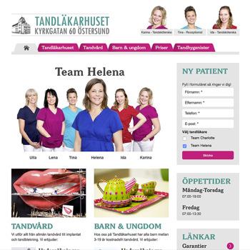 Tandläkarhuset hemsida