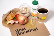 Best Western Hotell Ett takeaway breakfast