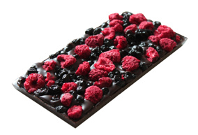 Pralinhuset - 70% Kakao - Hallon & Blåbär