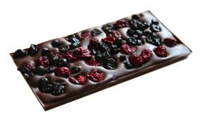Pralinhuset - 70% Kakao - Körsbär & Blåbär