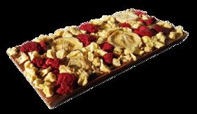 Pralinhuset - 40% Kakao - Ananas, Hallon & Banan