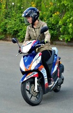Moped, manöverbana