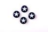 Marinblå med vit stjärna