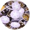 Lila - ljuslila med vit stjärna
