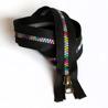 Multicolor zipper - svart