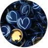 Marinblått hjärta