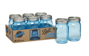 Blue Heritage Ball Mason Jar