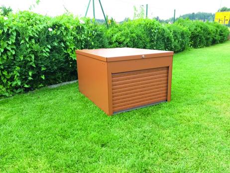 RAL brun+rulldörr i träimitation