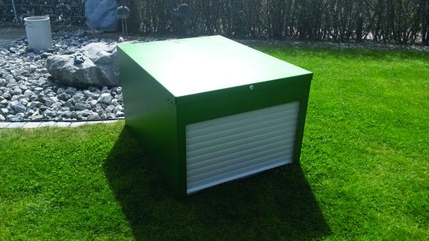 RAL grön+standard rulldörr