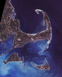 Cape Cod, USA. Bild: NASA.