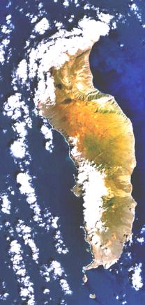 Guadalupe island, Mexiko. Bild: NASA.