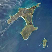 Chatham Islands, Nya Zeeland. Bild: NASA.