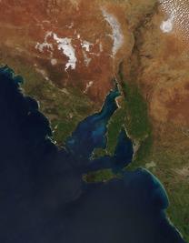 Spencer Guld, Södra Australien. Bild: NASA.