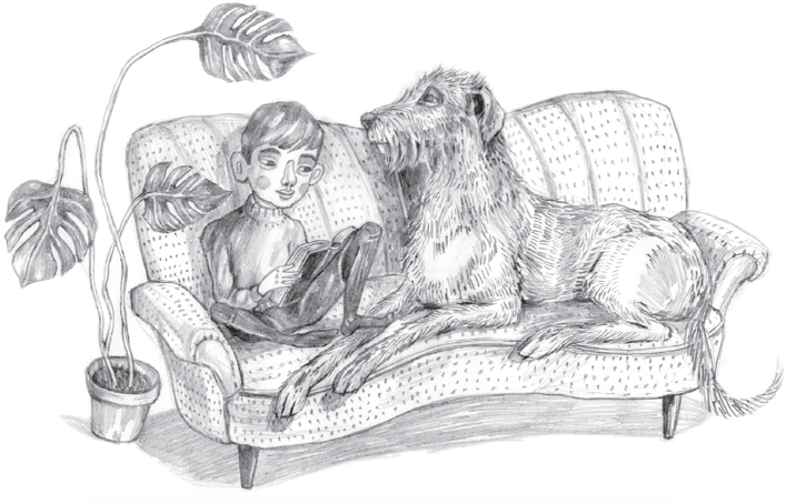 Illustration ur Din, tur Adrian av Helena Öberg och Kristin Lidström. Mirando 2015.