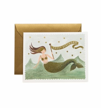 Mermaid birthday - Kort